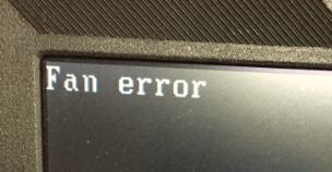 fan error